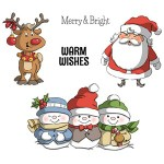 Holly Jolly rubber stamp set from Art Impressions