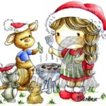 Izzys aussie christmas rubber stamp from Little Darlings