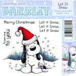 Let IT Snow rubber stamp from Crafters Companion