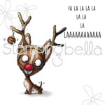 Nacho Deer Rubber Stamp from Stamping Bella