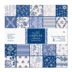 Parisienne Blue Paper Pack from DoCraft Papermania