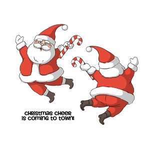 Santa Spinner stamp set from Art Impressions