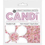 pretty in pink candi dot embellishment from craftworkcards