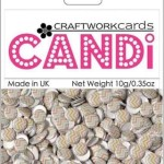 sweet pea candi dot embellishment from craftworkcards