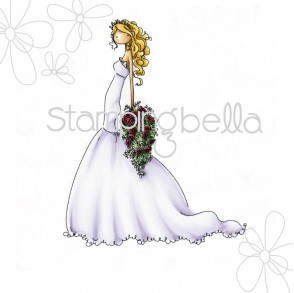 Brigitte the Bride Rubber Stamp from Stamping Bella
