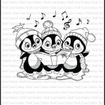 Caroling Penguins rubber stamp from North Coast Creations