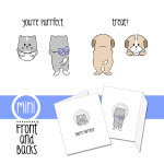 Cat and Dog mini front and back set from Art Impressions