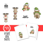 Elf and Reindeer mini front and back set from Art Impressions
