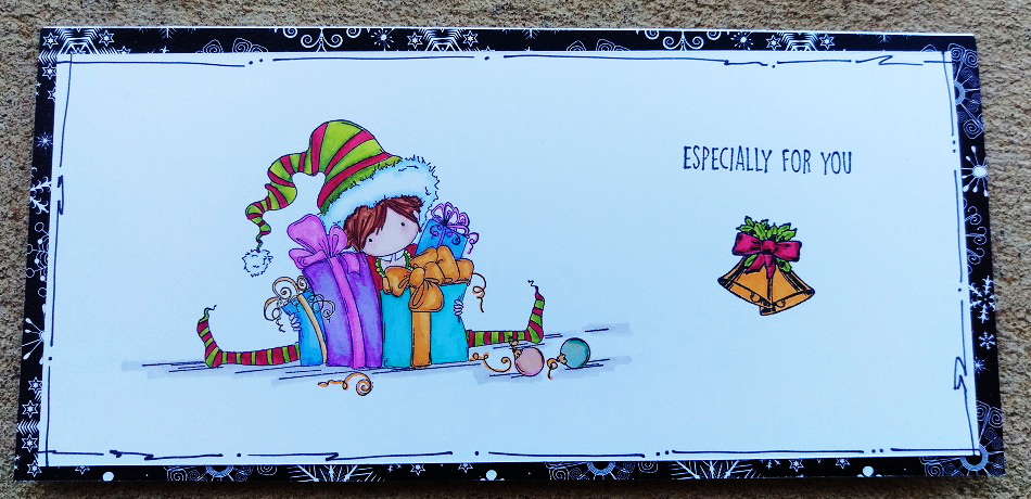 Card using Ellie the Elf from Stamping Bella