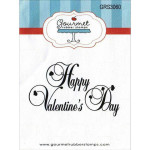 Large Happy Valentines day rubber stamp from Gourmet Rubber Stamps