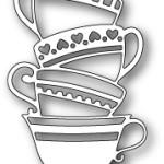 Teacup Stack die from Poppystamps