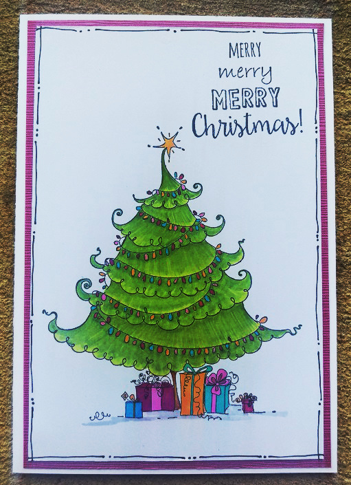 Card Using Uptown Christmas Tree from Stamping Bella