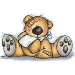 Boo Boo Bear rubber stamp from Whipper Snapper Designs