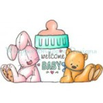 Welcome Baby rubber stamp from Whipper Snapper Designs