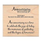 Anniversary Wishes Rubber Stamp from My Sentiments Exactly