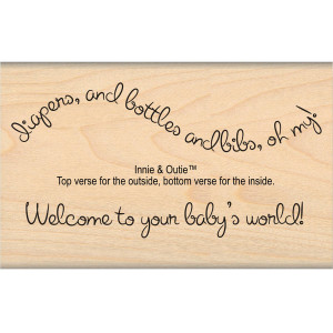 Baby's World Rubber Stamp from My Sentiments Exactly