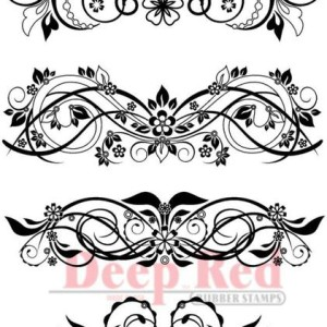 Vector Flourishes rubber stamp from Deep Red Cling Stamps