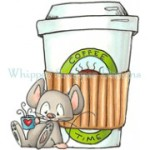 Colbys Caffeine rubber stamp from Whipper Snapper Designs