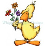 Flowers For You Duck rubber stamp from Whipper Snapper Designs