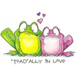 Toadally in Love rubber stamp from Whipper Snapper Designs