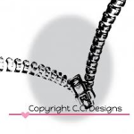 Zipper rubber stamp from Dove Art Studio and CC Designs