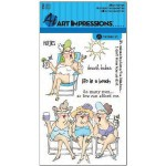 Beach Babes stamp set from Art Impressions