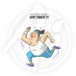 Dont Sweat It rubber stamp set from Art Impressions